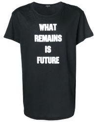 Ann Demeulemeester Black Slogan T-shirt for men