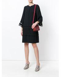 Chloé Black Button Placket Shift Dress