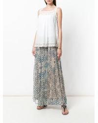 Mes Demoiselles - Blue Folklore Maxi Skirt - Lyst