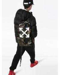 Камуфляжный Рюкзак С Логотипом Off-White c/o Virgil Abloh для него, цвет: Green