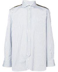 Chemise à design patchwork Junya Watanabe pour homme en coloris Blue