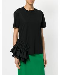 Jil Sander Black Ruched Detail T-shirt