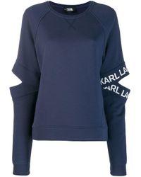 Karl Lagerfeld カットアウト スウェットシャツ Blue