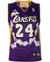 Night Market Purple Lakers Embroidered Nba Tank