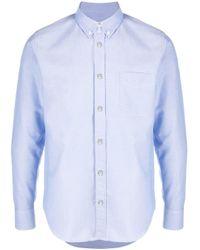 Рубашка С Длинными Рукавами Moncler для него, цвет: Blue
