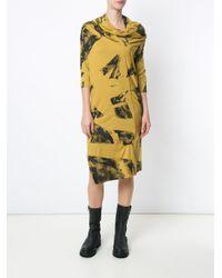 UMA | Raquel Davidowicz Green Printed Midi Dress