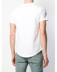 T-shirt à logo embossé Balmain pour homme en coloris White