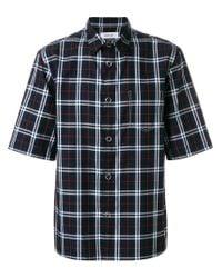 Helmut Lang - Blue Plaid Short Sleeve Shirt for Men - Lyst