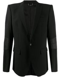Les Hommes Black Fitted Tailored Blazer for men