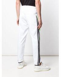 Pantaloni sportivi taglio straight di Palace in White da Uomo