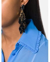 Marni - Black Petal Cluster Clip On Earrings - Lyst