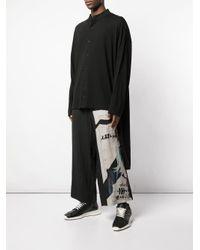 メンズ Yohji Yamamoto オーバーサイズ シャツ Black