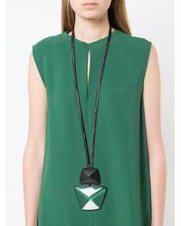 Monies - Black Long Pendant Necklace - Lyst