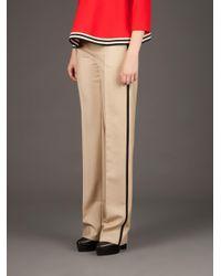 Bouchra Jarrar Natural Wide Tailored Trousers