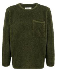 Universal Works Green Lancaster Faux Shearling Sweatshirt for men