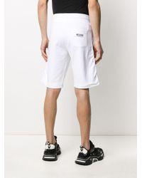 メンズ Moschino ロゴ トラックショーツ White