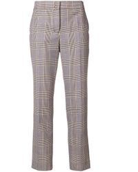 Dorothee Schumacher Black Cropped Plaid Trousers