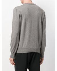 Les Hommes Gray Studded Jumper for men
