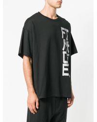 Facetasm プリント Tシャツ Black