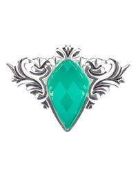 Stephen Webster Metallic 'superstud' Baroque Spike Crystal Haze Ring