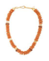 Collier Laguna Lizzie Fortunato en coloris Orange