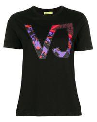 Versace Jeans Black Logo Patch T-shirt