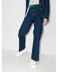 Jeans a gamba ampia di Wales Bonner in Blue