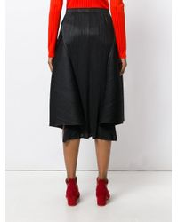 Pleats Please Issey Miyake - Black Ruched Skirt - Lyst