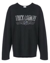 """Rhude Oberteil mit """"Truck Country""""-Print in Black für Herren"""