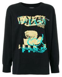 Facetasm Black Printed Logo Sweatshirt