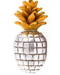 True Rocks Metallic 'pineapple' Necklace