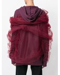 Y. Project Red Tulle Wrap Hoodie