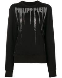 Crystal-embellished Sweatshirt Philipp Plein, цвет: Black