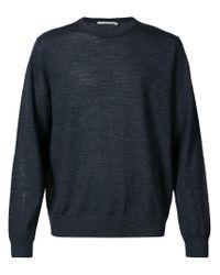 Vince - Blue Crew Neck Sweater for Men - Lyst