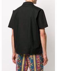 Chemise à détails en maille rayée Stussy pour homme en coloris Black