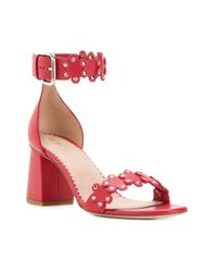 RED Valentino Red(v) Ankle Strap Flower Sandals