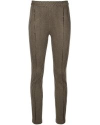 Pantaloni crop skinny di Rosetta Getty in Brown