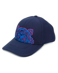 KENZO Blue Tiger Embroidered Cap for men