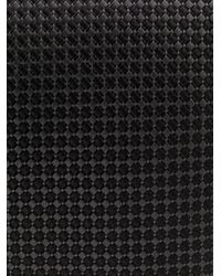 BOSS by Hugo Boss Black Geometric Pattern Silk Tie for men