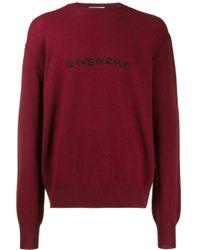 Maglione con ricamo di Givenchy in Red da Uomo