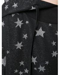 Frankie Morello Black Star Intarsia Hooded Jumper