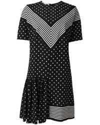 Stella McCartney - Black Dual Pattern Mini Dress - Lyst