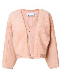 Veste à empiècements en mouton retourné T By Alexander Wang en coloris Pink