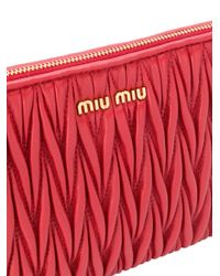Miu Miu マテラッセ クラッチバッグ Red