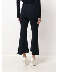 Stella McCartney Blue Flared Cropped Trousers