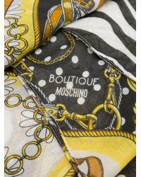Boutique Moschino ホースビット スカーフ White