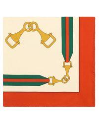 Foulard con motivo Interlocking G di Gucci in Multicolor