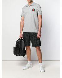 Love Moschino Poloshirt mit Logo-Stickerei in Gray für Herren