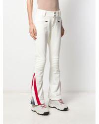 Pantalon évasé à motif de chevrons Perfect Moment en coloris White