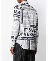 Chemise imprimée Versace pour homme en coloris White